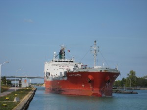 North Fighter Exiting Welland Lock 3